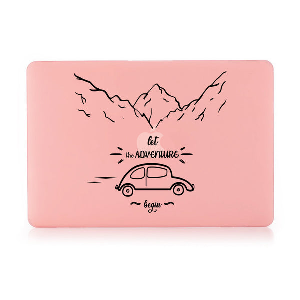 "Let The Adventure Begin Pastel Pink MacBook Air 13"" Retina (2018) Cover-Hamee India"