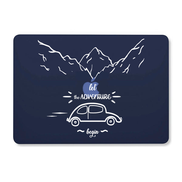 "Let The Adventure Begin Navy Blue MacBook Air 13"" Retina (2018) Cover-Hamee India"