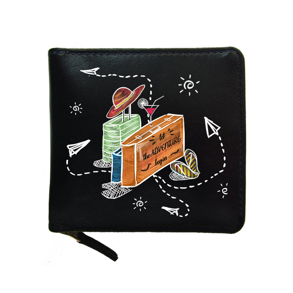 Suitcase Adventure Unisex Zip Wallet-Hamee India