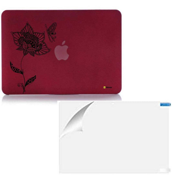 "Butterfly Wine Red MacBook Air 13"" Retina Cover & Screen Guard-Hamee India"
