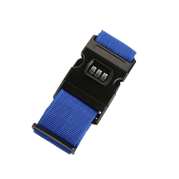 Blue - Luggage Strap with Lock-Hamee India