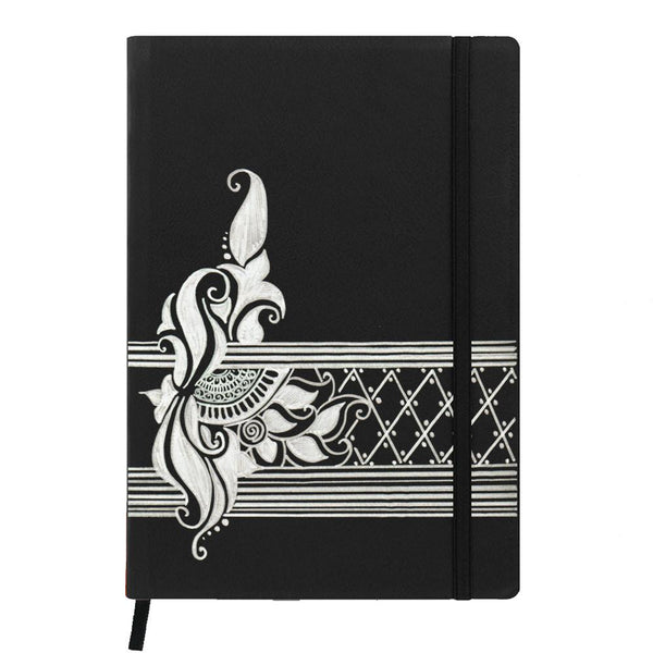 Ethnic Stripe Quirky Pattern Black A6 Pocket Diary