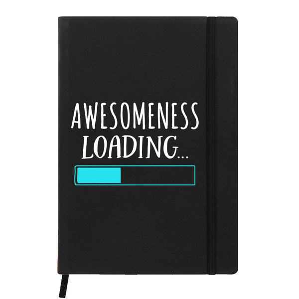 Hamee India - Awesomeness Loading - Black Leather Notebook