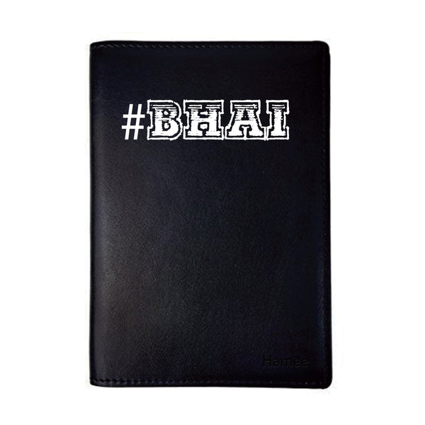Bhai Black PU Leather Passport Wallet / Holder-Hamee India