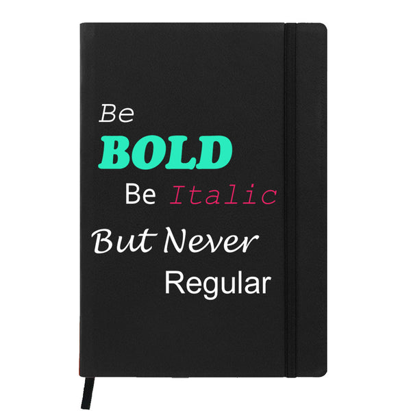 Hamee India - Be Bold - Black Leather Notebook