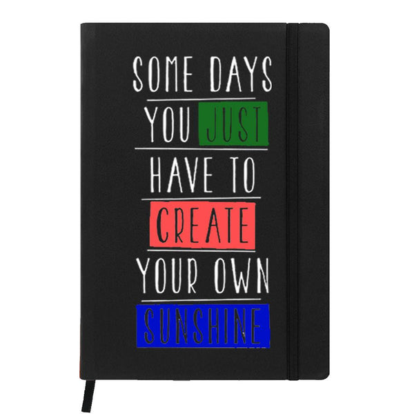 Create Your Own Sunshine Black A6 Pocket Diary