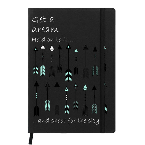 Hamee India - Arrow - Black Leather Notebook