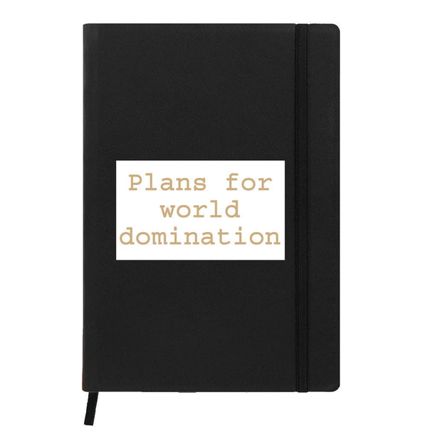 Domination Plans Black A6 Pocket Diary
