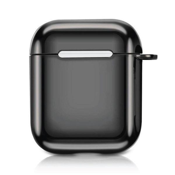 Metallic TPU Airpods Case - Black-Hamee India