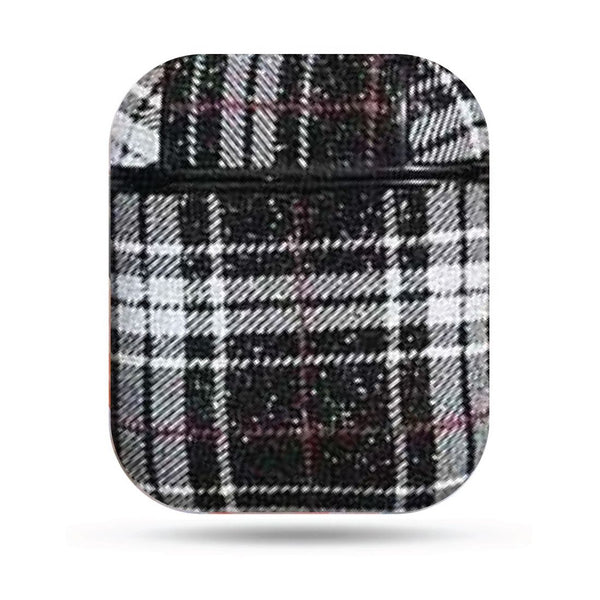 Plaid Airpods Case - Black