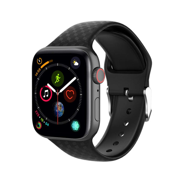 Black Silicone Texture Band Strap - Apple Watch Series 5/4/3 (44mm/42mm)