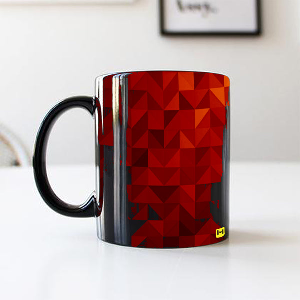 Black Coffee Mug - Red Shades-Hamee India