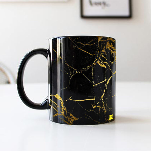 Black Coffee Mug - Gold Marble-Hamee India