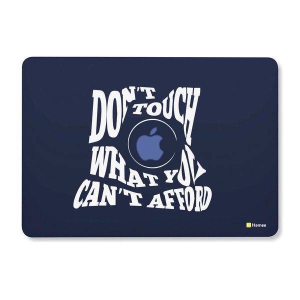 "Do Not Touch - Navy Blue MacBook Air 13"" Cover-Hamee India"
