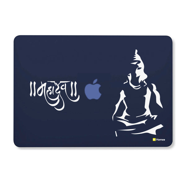 "Mahadev - Navy Blue - Matte Finish Shell Case for Apple Macbook Air 13""-Hamee India"