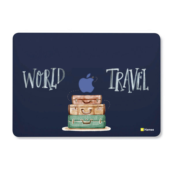 "World Travel - Navy Blue - Matte Finish Shell Case for Apple Macbook Air 13""-Hamee India"