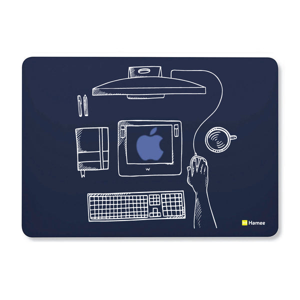 "Office - Navy Blue - Matte Finish Shell Case for Apple Macbook Air 13""-Hamee India"