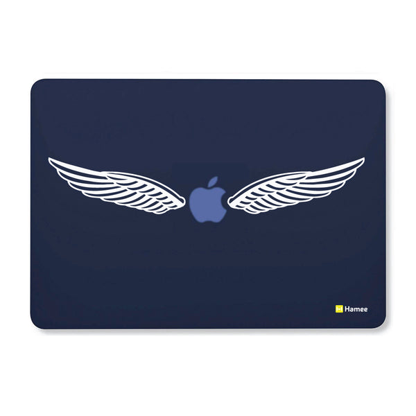 "Wings - Navy Blue - Matte Finish Shell Case for Apple Macbook Air 13""-Hamee India"