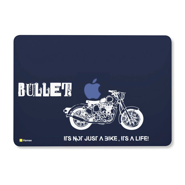 "Bullet - Navy Blue - Matte Finish Shell Case for Apple Macbook Air 13""-Hamee India"