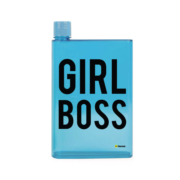 Girl Boss - Blue Water Bottle (420 ml)-Hamee India