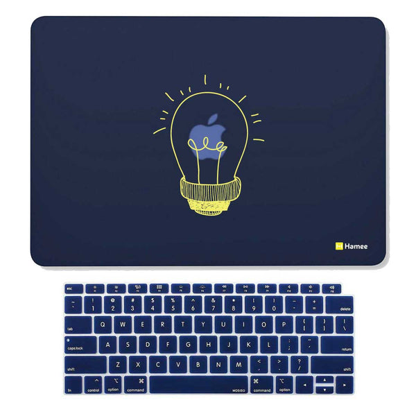 "Bulb Navy Blue MacBook Air 13"" Retina Cover & Keyboard Guard-Hamee India"