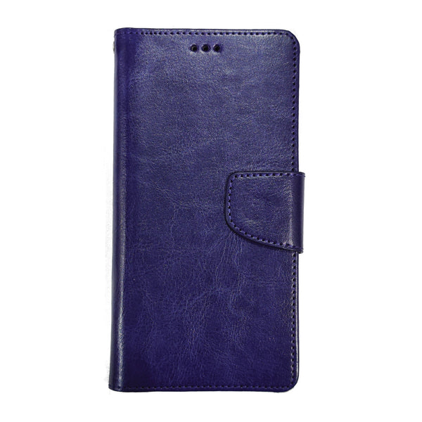 PU Leather Flip Cover for iPhone 11 (Indigo Blue)