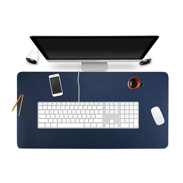Blue - XXL Leather Mouse Pad / Desk Pad