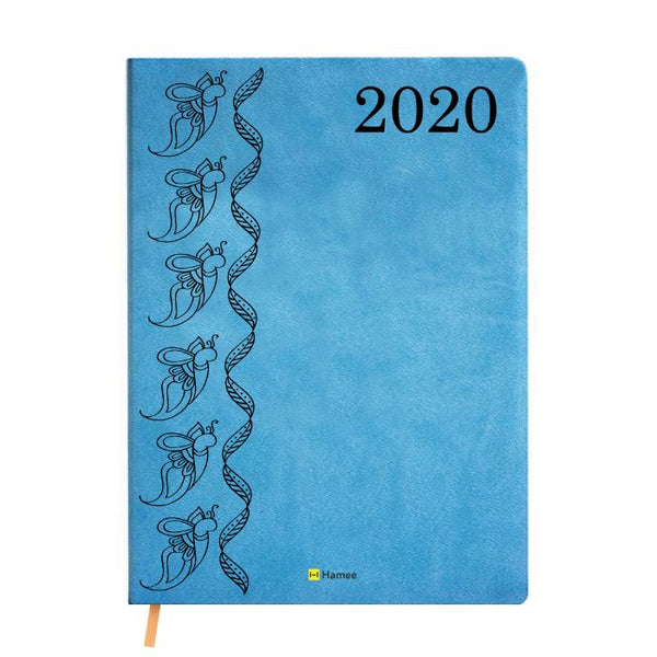 2020 Blue Leather Diary - Butterflies