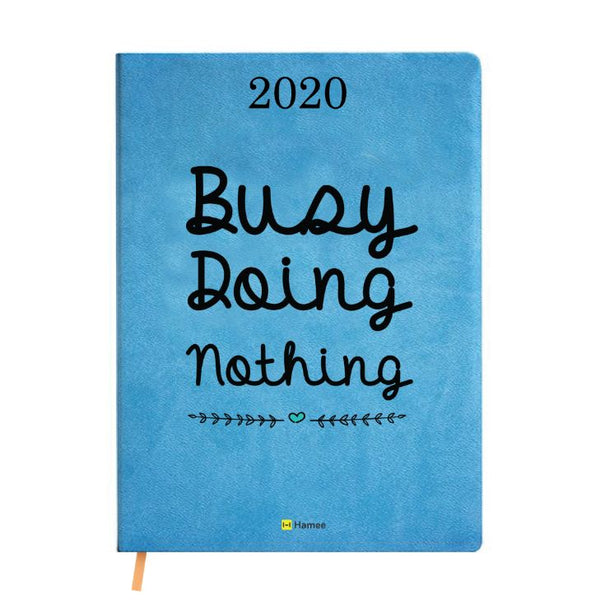 2020 Blue Leather Diary - Busy