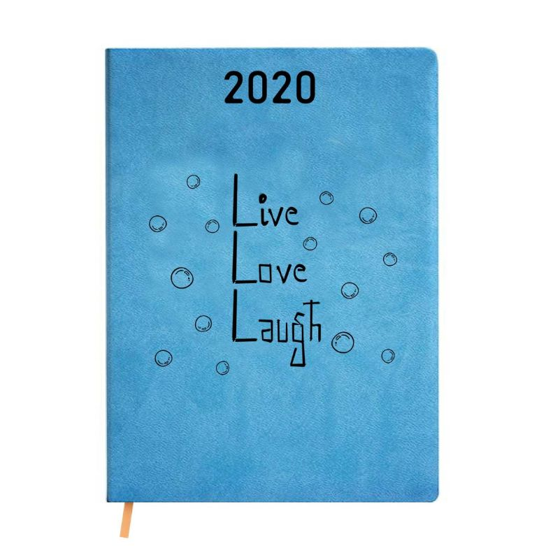 2020 Blue Leather Diary - Live