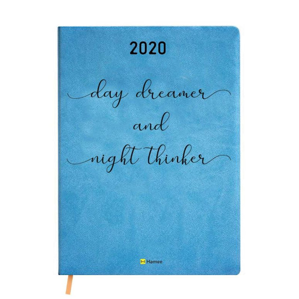 2020 Blue Leather Diary - Day Dreamer