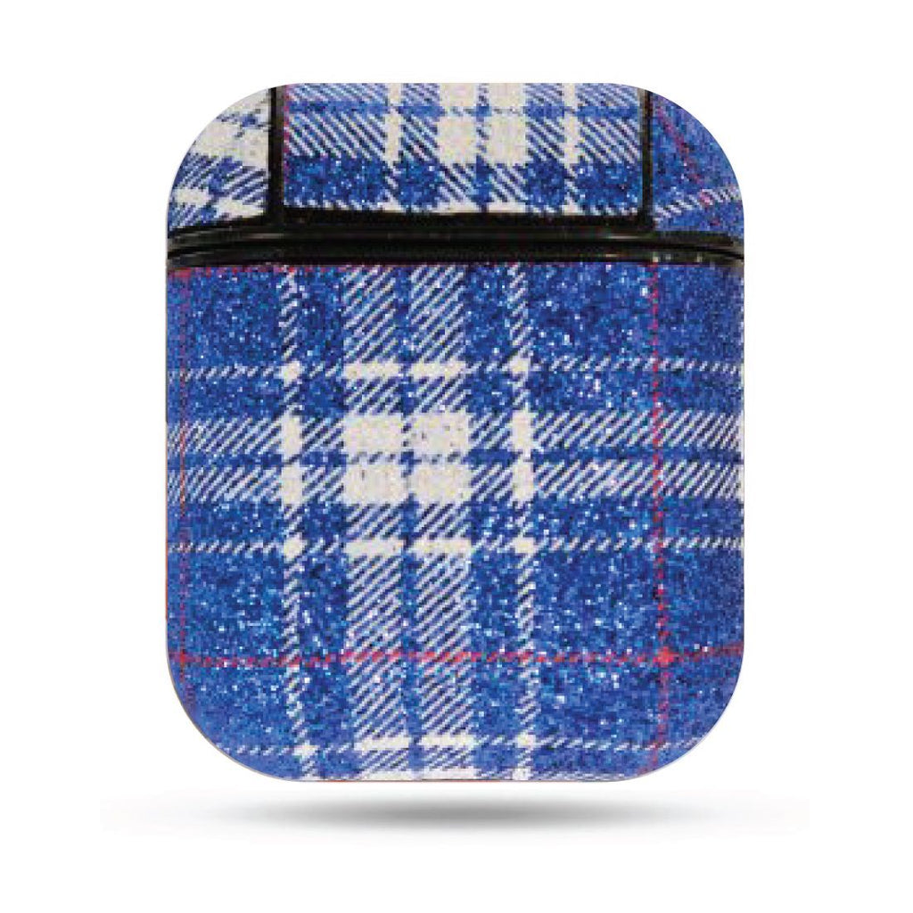 Plaid Airpods Case - Blue