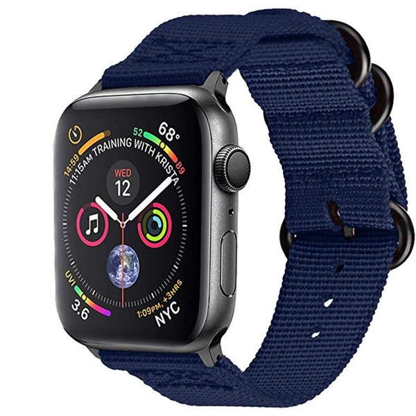 Blue Nylon Woven Band Strap - Apple Watch Series 5/4/3 (44mm/42mm)