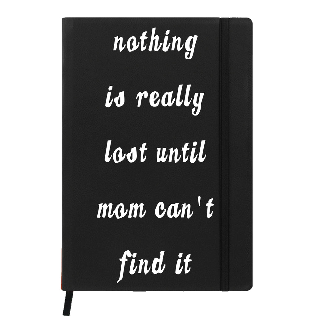Black Notebook- Mom will find it-Hamee India