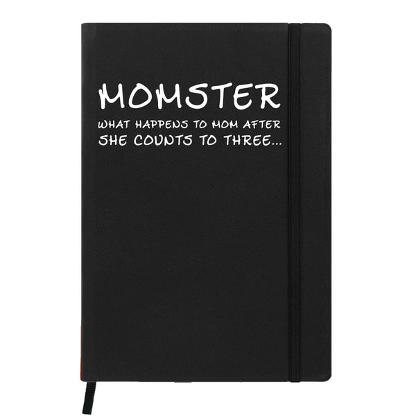 Hamee- Mother's Day Special Black Leather Planner / Organizer- Momster