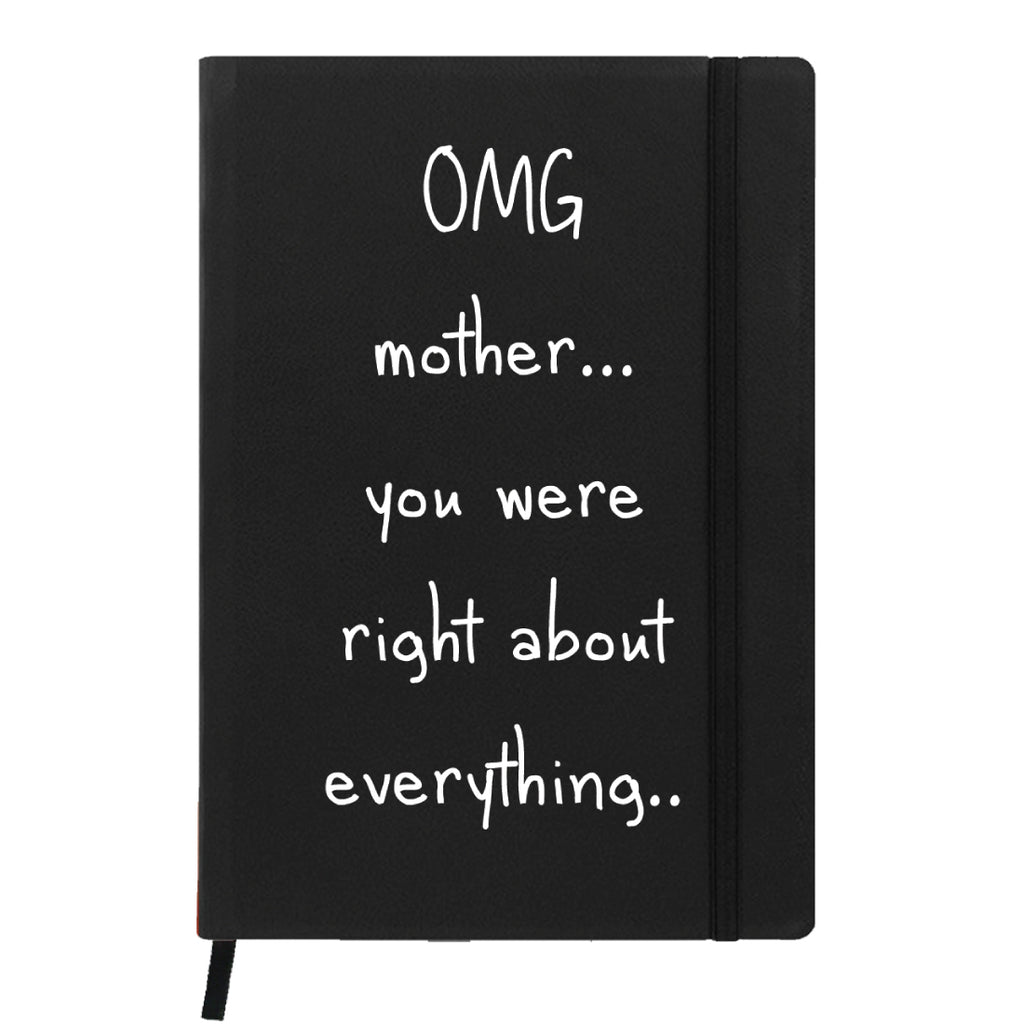 Black Notebook- Mom is Right-Hamee India
