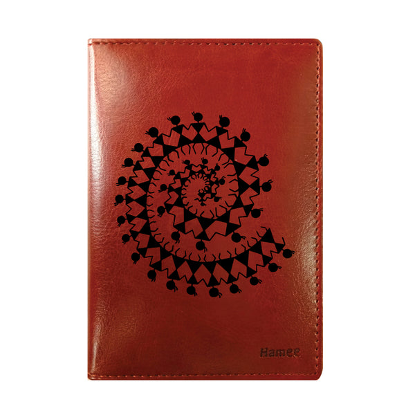Tribal Print Brown PU Leather Passport Wallet / Holder-Hamee India