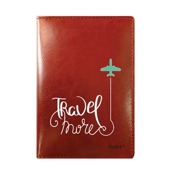 Travel More Brown PU Leather Passport Wallet / Holder-Hamee India