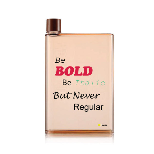 Hamee - Be Bold - Notebook Style Portable Transparent Brown Shade Memo Water Bottle (420 ml)