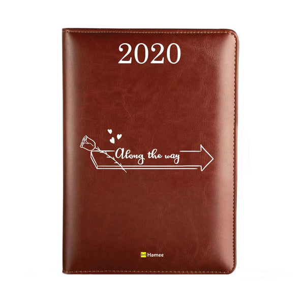 2020 Dark Brown Leather Diary - Along