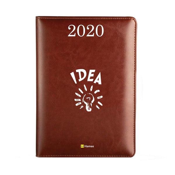 2020 Dark Brown Leather Diary - Bulb