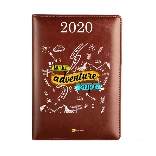 2020 Dark Brown Leather Diary - Adventure