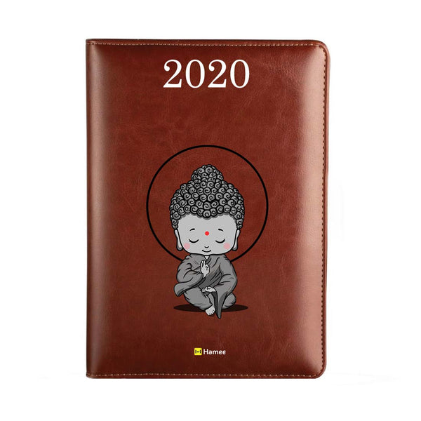2020 Dark Brown Leather Diary - Baby Buddha