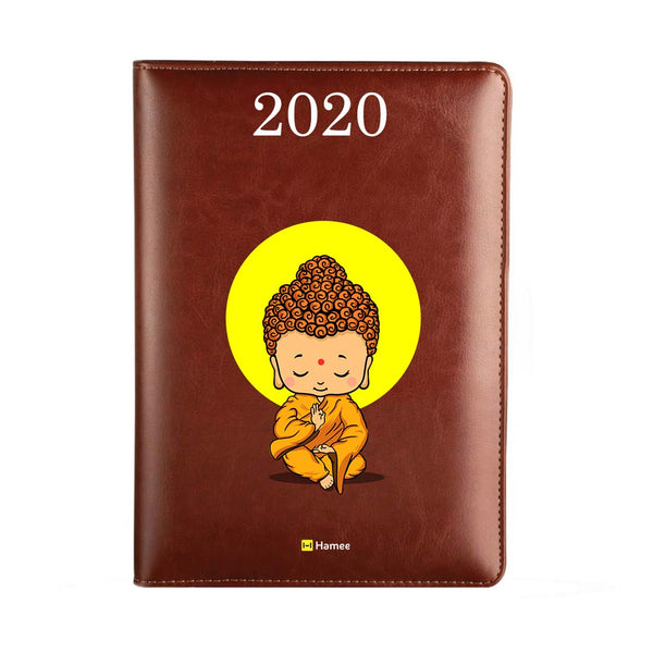 2020 Dark Brown Leather Diary - Buddha Shine