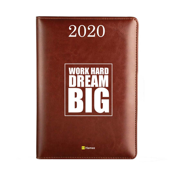 2020 Dark Brown Leather Diary - Dream Big
