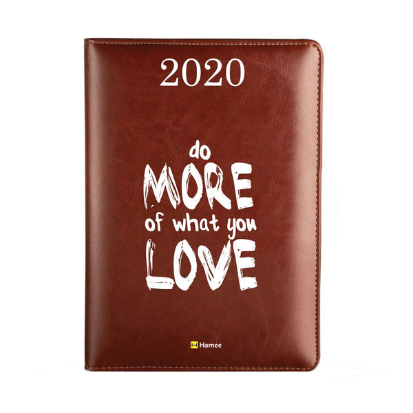 2020 Dark Brown Leather Diary - Do More