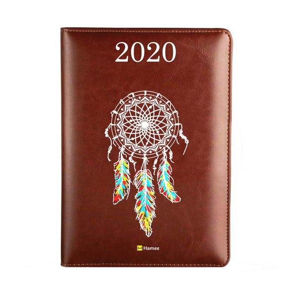 2020 Dark Brown Leather Diary - Dreamcatcher