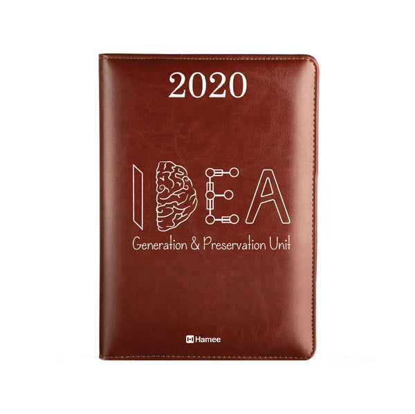 2020 Dark Brown Leather Diary - Idea
