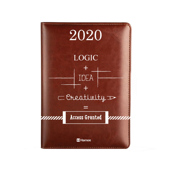2020 Dark Brown Leather Diary - Access