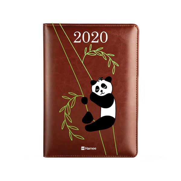 2020 Dark Brown Leather Diary - Panda